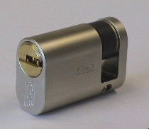 Mul-T-Lock Interactive+ Oval Profile Single Cylinder - Brass