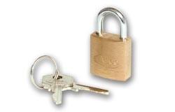 ASEC Brass padlocks - Standard shackle - Economy Range - 30mm