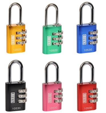 KASP Coloured Combination Padlock 30MM