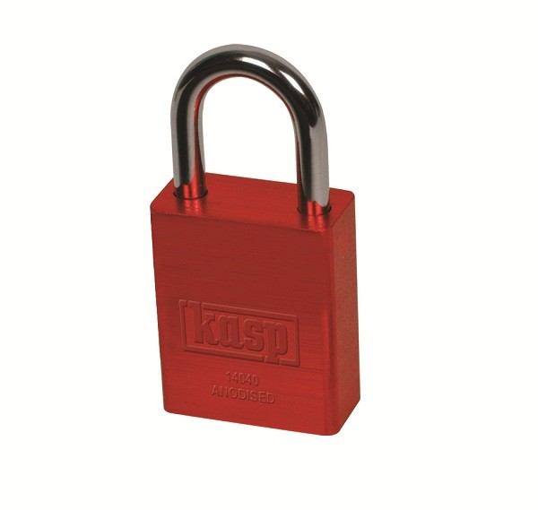 KASP Coloured Padlock - RED 40mm