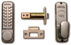 Lockey 2430 Low Duty Mechanical digital lock - Satin Chrome
