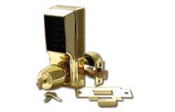 Unican 1021B Heavy Duty Mechanical digital lock - Polished Brass