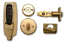 Unican 7104 Medium Duty Mechanical digital lock - Polished Brass