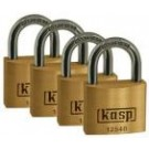 KASP 125 Premium Brass Padlock Quad Pack - 40mm